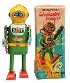 Tin Litho Wind-Up Interplanetary Explorer Robot.