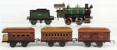 Tinplate Bing O-Gauge Passenger Train Set.