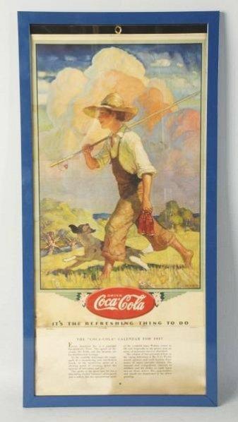 1937 Coca-Cola Framed Calendar.