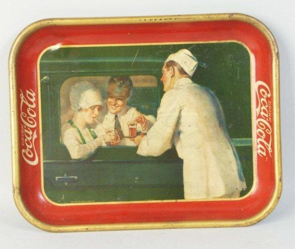 1927 Carhop Coca-Cola Tray.