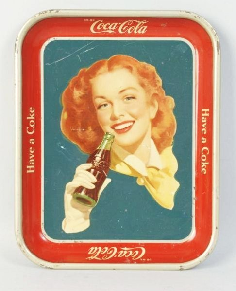 1950-52 Solid Background Coca-Cola Serving Tray.
