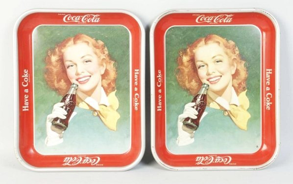 Lot of 2: Early 1950s Coca-Cola Serving Trays.