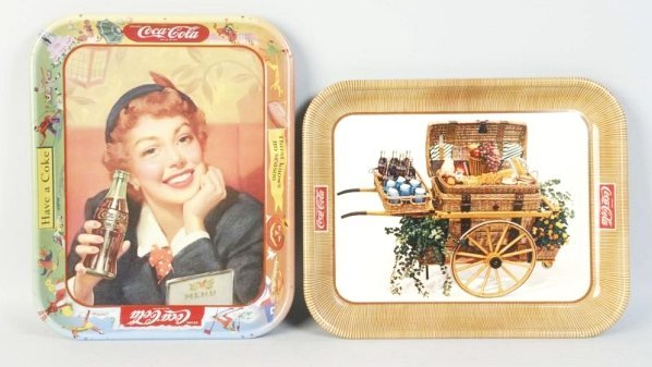 Lot of 2: 1950s Coca-Cola Trays.