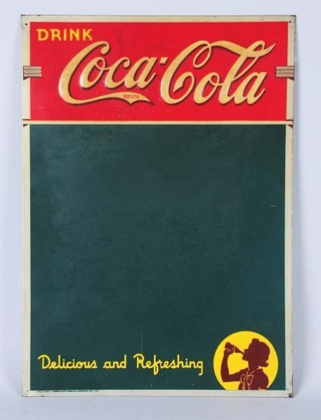 1940 Coca-Cola Tin Menu Board.