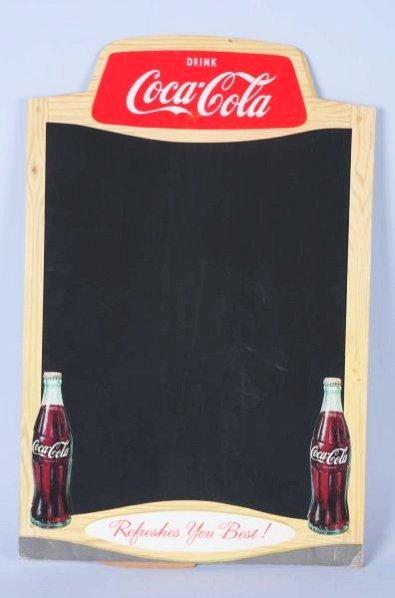 1950s-60s Coca-Cola Cardboard Menu Board.