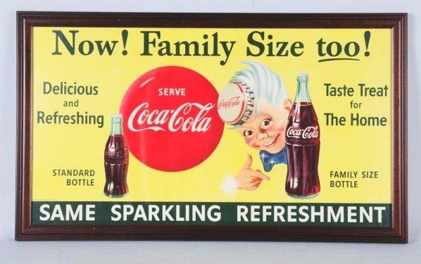 1955 Coca-Cola Sprite Boy Paper Poster.