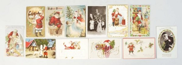Lot of 400+ Santa Christmas Postcards.