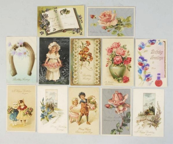 Lot of 1000+ Assorted Greeting Postcards.