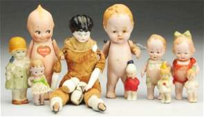 Lot of Small Dolls