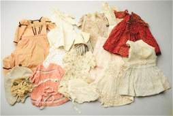 Lot of Vintage and Antique Doll Clothes