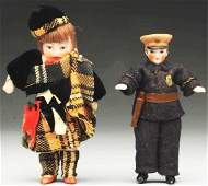 Lot of 2: German All-Bisque Dolls.