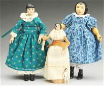 Lot of 4 Artist Hitty Dolls