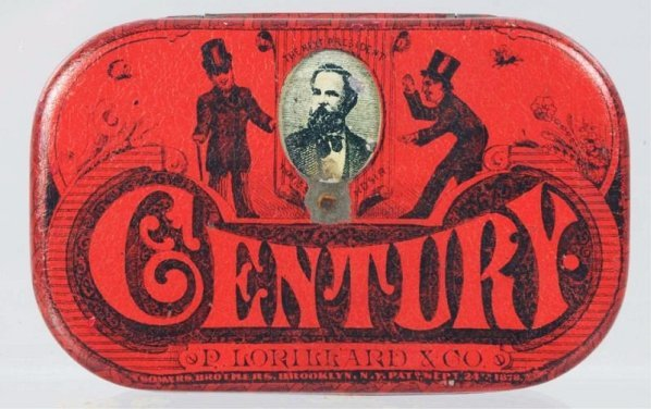 Century Flat Pocket Tobacco Tin.
