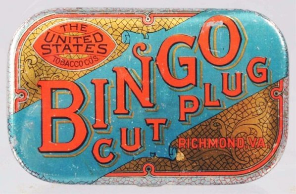 Bingo Cut Plug Pocket Tobacco Tin.