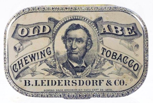 Old Abe Chewing Tobacco Flat Pocket Tin.