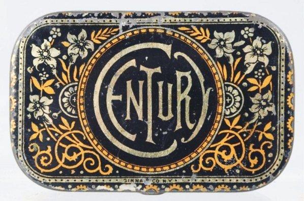 Century Flat Pocket Tobacco Tin.