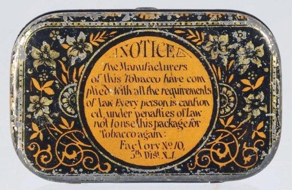 Century Flat Pocket Tobacco Tin. - 2