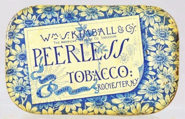 Peerless Tobacco Flat Pocket Tin.