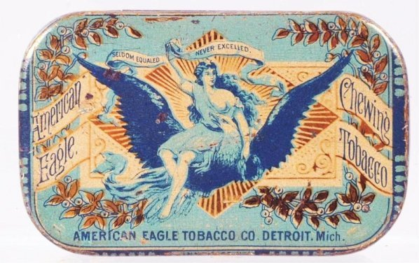 American Eagle Chewing Flat Pocket Tobacco Tin.