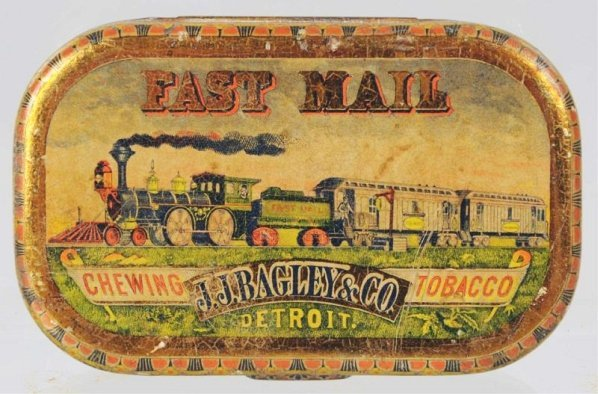 Fast Mail Chewing Tobacco Flat Pocket Tin.