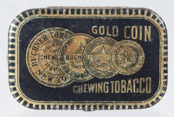 Distinctive Gold Coin Chewing Tobacco Flat Pocket