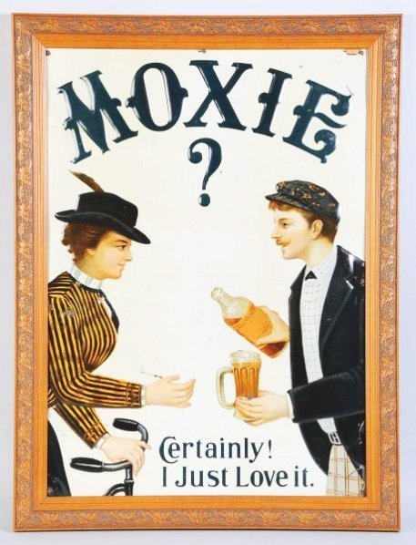 Rare Moxie Embossed Tin Sign.