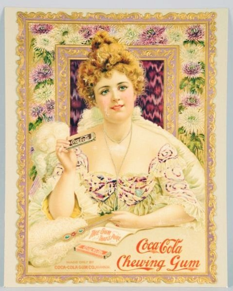 1903 Hilda Clark Coca-Cola Chewing Gum Sign.