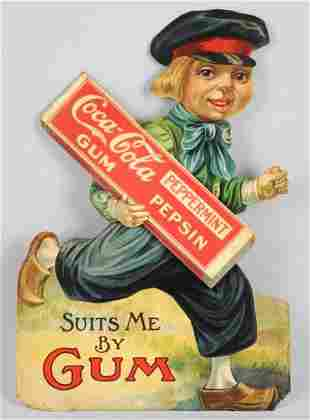 1914-1916 Coca-Cola Gum Cardboard Cutout.