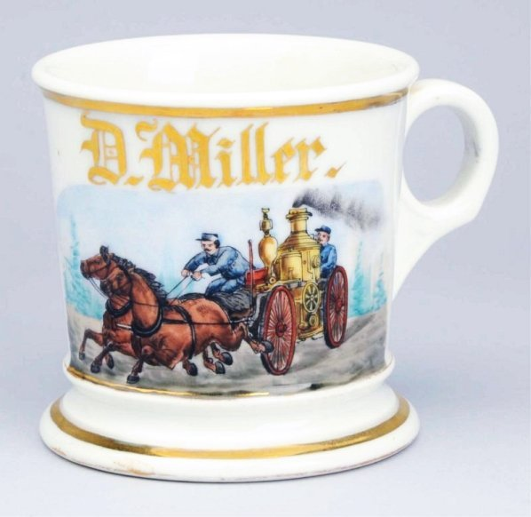Horse-Drawn Fire Pumper Shaving Mug.