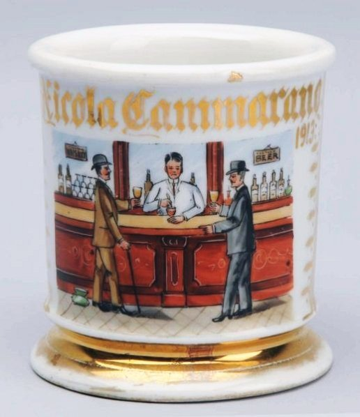 Bar Room Scene Shaving Mug.