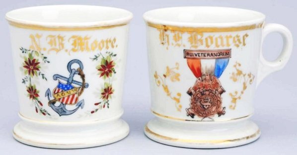 Lot of 2: Shaving Mugs.