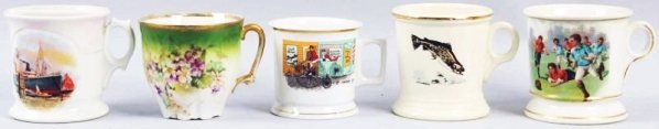 Lot of 5: Shaving Mugs.