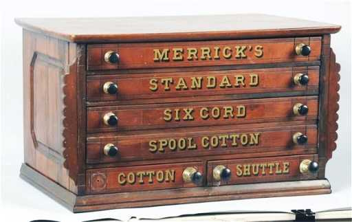- Merrick's Thread Spool Cabinet.