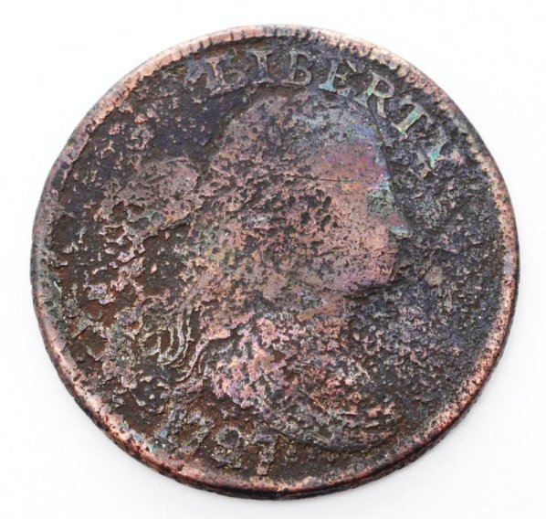 1797 Large Cent U.S. Coin.