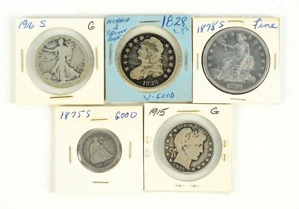 Lot of 5: U.S. Coins.
