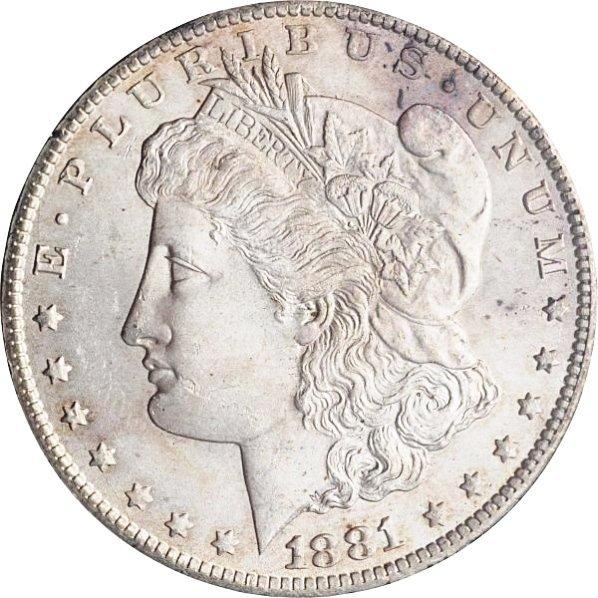 1881-CC Morgan Silver Dollar MS 63.