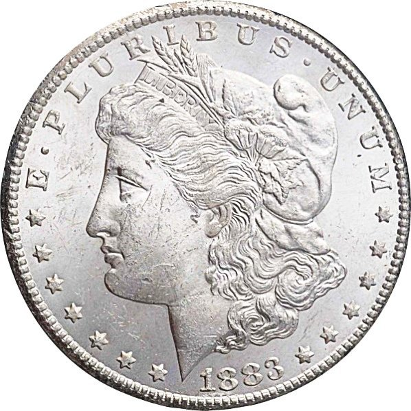 1883-CC Morgan Silver Dollar MS 63.