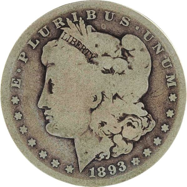 1893 S Morgan Silver Dollar.