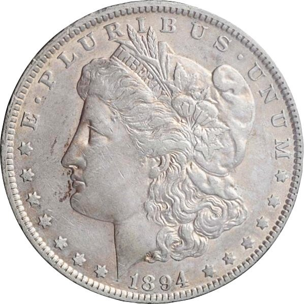 1894-O Morgan Silver Dollar AU.