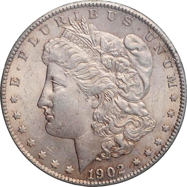 1902-S Morgan Silver Dollar MS 60.