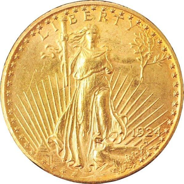 1924 $20 Saint Gaudens Gold Coin.