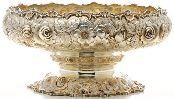 SKirk & Son Sterling Silver Pedestal Centerpiece.