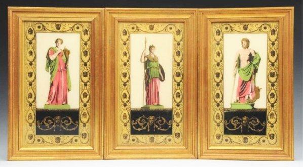 Lot of 3: Reverse Roman Paintings.
