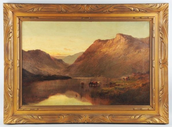 Alfred De Breanski Senior Oil on Canvas.