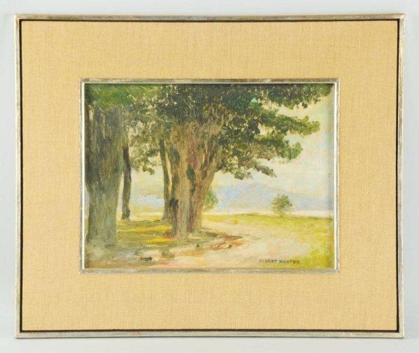 Albert Herter Oil on Canvas Board.