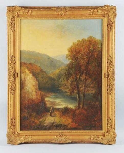 Charles P. Shaw Oil on Canvas.