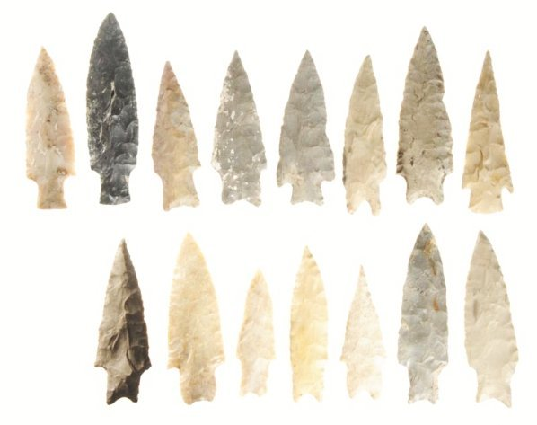 Lot of 15: Texas Projectile Points.