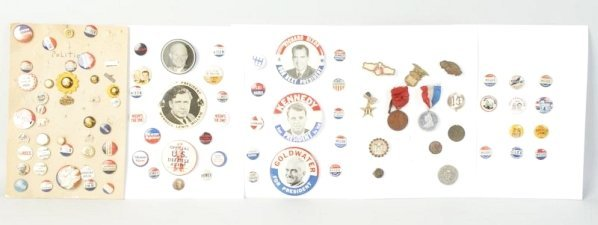 Lot of 1950s-1970s Political Pinback Buttons.
