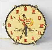 Old Drum Whiskey Wall Clock