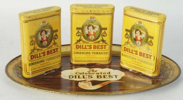 Dill's Tobacco Tin Tray Display.